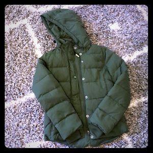 J. Crew Puffer Coat Green Size XS